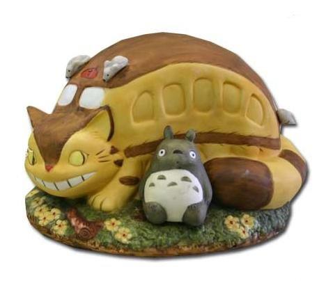 1 left - Music Box - Porcelain - Totoro & Nekobus - Ghibli - Sekiguchi - no production (new)