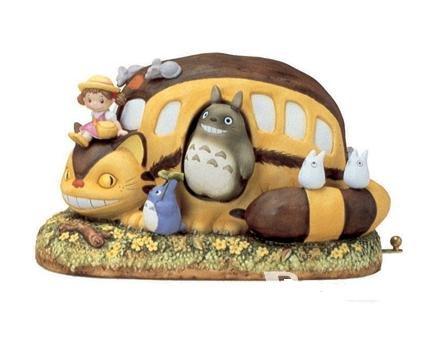 Ghibli - Totoro & Chu & Sho Totoro & Nekobus & Mei - Music Box - Porcelain (new)