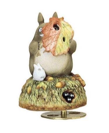 Ghibli - Totoro & Sho Totoro & Makkuro Kurosuke - Music Box - Rotary - Porcelain - happa (new)