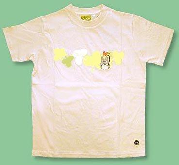 Ghibli - Totoro - T-shirt (M) - Totoro & Makkuro Kurosuke Embroidered - beige (new)