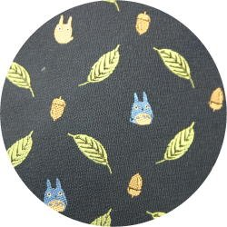Ghibli - Chu & Sho Totoro - Necktie - Silk - Jacquard Weaving - leaf - navy - 2006 - SOLD OUT (new)