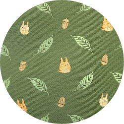 Ghibli - Chu & Sho Totoro - Necktie - Silk - Jacquard Weaving - leaf - green - 2006 - SOLD OUT (new)