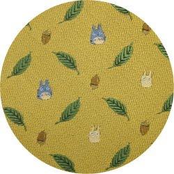 Ghibli - Chu & Sho Totoro - Necktie - Silk - Jacquard Weaving - leaf - yellow - 2006 (new)