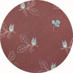 Ghibli - Totoro - Necktie - Silk - Jacquard - clover & leaf - wine - 2006 - RARE - 1 left  (new)