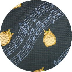 Ghibli - Totoro - Necktie - Silk - Jacquard Weaving - note - navy - 2006 - SOLD OUT (new)