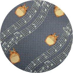 Ghibli - Totoro - Necktie - Silk - Jacquard Weaving - note - blue - 2006 - 1 left (new)