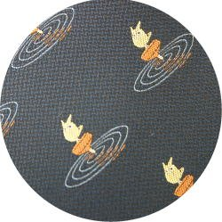 Ghibli - Sho Totoro - Necktie - Silk - Jacquard Weaving - top - navy - 2006 - 1 left (new)