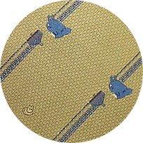 Ghibli - Totoro & Sho Totoro - Necktie - Silk - Jacquard Weaving - top - yellow - SOLD OUT (new)