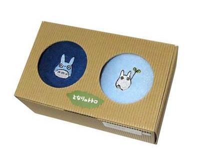 Ghibli - Chu & Sho Totoro Embroidered - Towel Set - 2 Mini Towel - 2006 (new)
