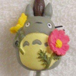 Ghibli - Totoro & Chu & Sho Totoro & Kurosuke - Hook & Strap Holder - Natural Crystal - cosmos - 2006 (new)