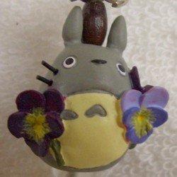 Ghibli - Totoro & Chu & Sho Totoro & Kurosuke - Hook & Strap Holder - Natural Crystal - viola - 2006 (new)