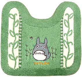 Toilet Mat - Totoro Applique - Makkuro Embroidered - green - Ghibli (new)