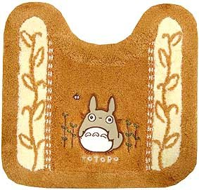 Ghibli - Totoro - Toilet Mat - Totoro Applique - Embroidered - orange - SOLD (new)