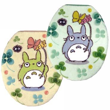 Ghibli - Totoro - Toilet Lid Cover - regular - beige (new)