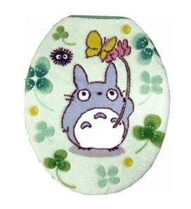 Ghibli - Totoro - Toilet Lid Cover - regular - green (new)