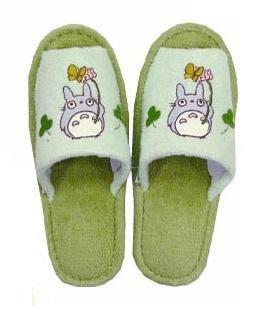 Ghibli - Totoro - Slipper - Totoro Applique - green (new)
