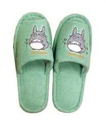 Slipper - Totoro Applique - Grass Embroidered - green - Ghibli (new)