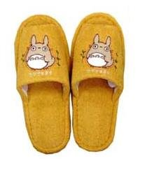Ghibli - Totoro - Slipper - Totoro Applique - Grass Embroidered - orange - SOLD (new)