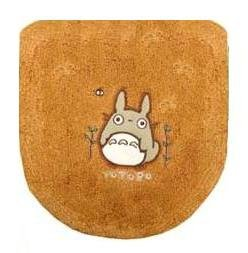 Ghibli - Totoro - Toilet Lid Cover - Totoro Applique - Embroidered - Washlets - orange - SOLD (new)