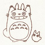 Ghibli - Totoro & Sho Totoro - Pre-inked / Self-inking Stamp - brown - SOLD OUT (new)