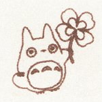 Ghibli - Totoro & Clover - Pre-inked / Self-inking Stamp - brown - SOLD OUT (new)