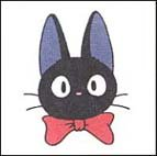 SOLD - Rubber Stamp - Jiji Ribbon- made in Japan - Kiki's Delivery Service -no production (new)