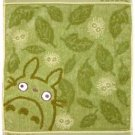 Hand Towel - Embroidered - Non Twisted Thread & Jacquard - moko - green - Totoro (new)