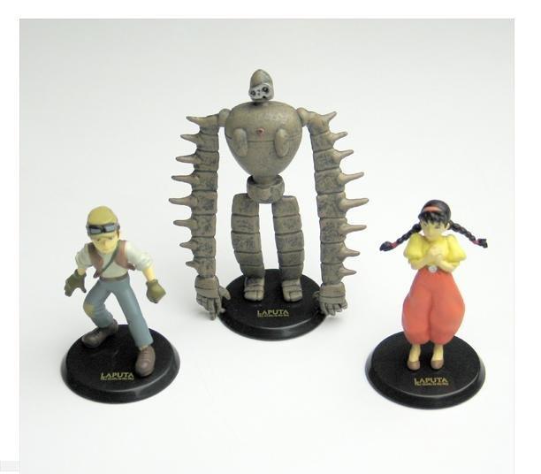 1 left- 3 Figure Set - Image Model - Robot Sheeta Pazu -white- Laputa - Cominica -no production(new)