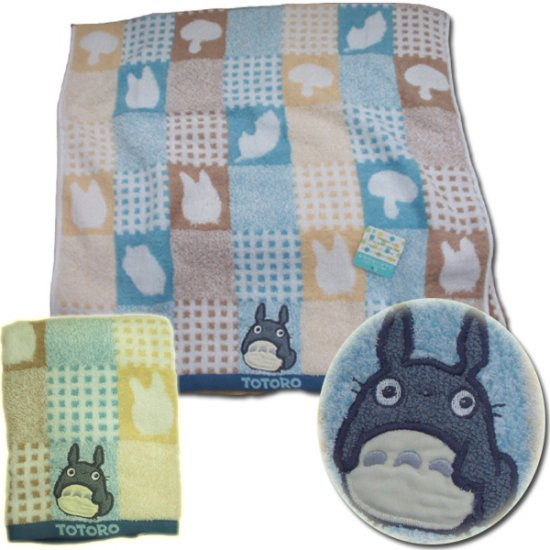 Ghibli - Totoro - Bath Towel - Totoro Applique - fuwa - blue - out of production - RARE (new)
