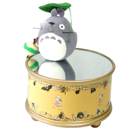 Ghibli - Totoro & Leaf - Spinning Mascot with Magnet - Music Box (new)