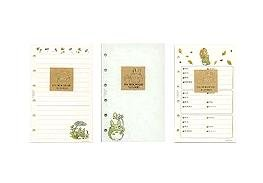 Ghibli - Totoro - 3 Refill Sheet Set - for Compact Note Holder - line & blank & address (new)