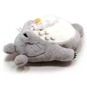 Tissue Box Cover Case - W56cm - Plush Doll - Totoro sleeping & Butterfly - Ghibli - Sun Arrow (new)