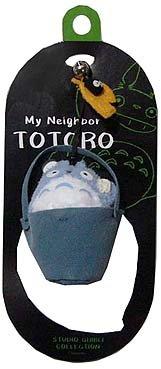 SOLD - Hook Strap Holder - Mascot & Bell- bucket - Chu Totoro & Kurosuke - no production(new)