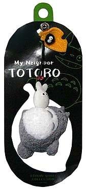 Ghibli - Totoro & Sho Totoro & Kurosuke - Hook Strap Holder - Fluffy Mascot & Bell - 2006 (new)