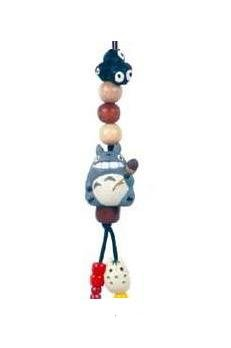 Ghibli - Totoro & Yukinko & Kurosuke - Beads & Synthetic Leather Strap Holder - acorn (new)