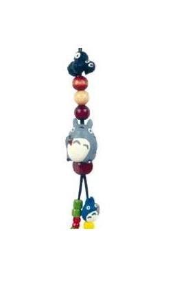 Ghibli - Totoro & Chu Totoro & Kurosuke - Beads & Synthetic Leather Strap Holder - grape (new)