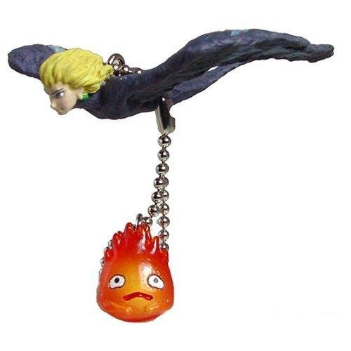 Keychain - Bird Howl & Calcifer - cominica - Howl's Moving Castle - out of production (new)