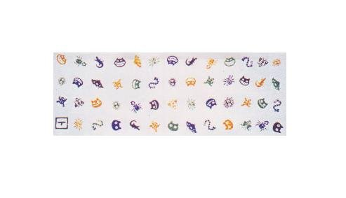 1 left - Towel Tenugui -33x90cm- Bugs - Japanese Dyed Made Japan - Totoro Ghibli no production (new)