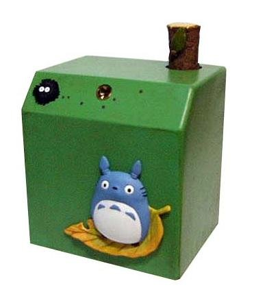 SOLD - Wooden Music Box - turn around inside & light - Totoro - Ghibli - no production (new)