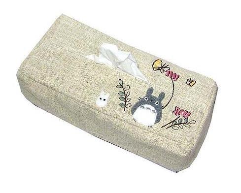 Ghibli - Totoro & Sho Totoro & Butterfly  - Tissue Box Cover - Totoro Applique - 2006 - SOLD (new)