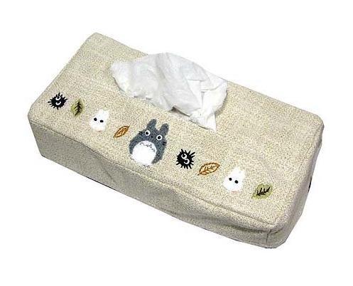 Tissue Box Cover - Totoro Applique - Totoro & Sho Totoro & Makkuro Kurosuke - 2006 (new)