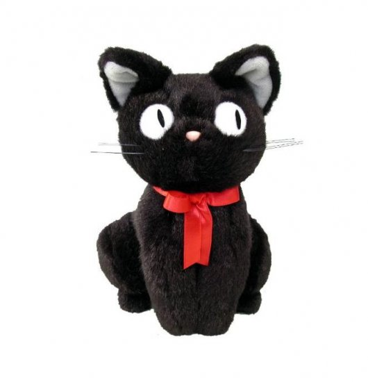 Plush Doll (S) - H18cm - Sitting Jiji - Kiki's Delivery Service - Ghibli - Sun Arrow (new)