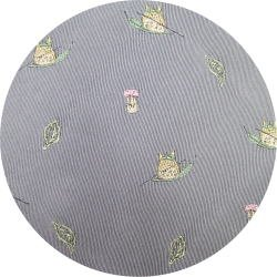 Ghibli - Totoro & Sho Totoro - Necktie - Silk - Jacquard - sail on leaf - gray - 2007 (new)