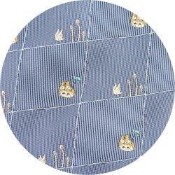 Ghibli - Totoro & Sho Totoro - Necktie - Silk - Jacquard - horsetail - blue - 2007 - 1 left (new)
