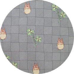 Ghibli - Totoro - Necktie - Silk - Jacquard Weaving - clover - gray - 2007 - 2 left (new)