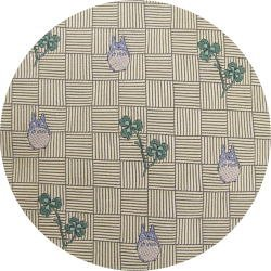 Ghibli - Totoro - Necktie - Silk - Jacquard Weaving - clover - cream - 2007- RARE - 1 left (new)