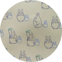 Ghibli - Chu & Sho Totoro - Necktie - Silk - Jacquard - umbrella - cream - 2007 (new)