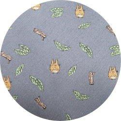 Ghibli - Chu Totoro - Necktie - Silk - Jacquard Weaving - leaf & branch - gray - 2007- 1 left (new)