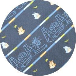 Ghibli - Totoro & Nekobus - Necktie - Silk - Jacquard - scribble - navy - 2007 - 1 left (new)