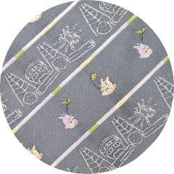 Ghibli - Totoro & Nekobus - Necktie - Silk - Jacquard - scribble - gray - 2007 - 2 left  (new)